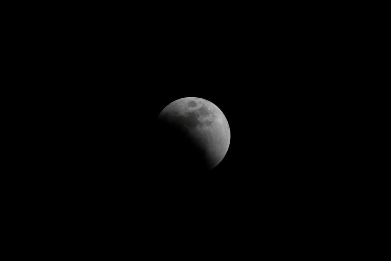 Beginning of the Lunar Eclipse on Feb 20, 2008.