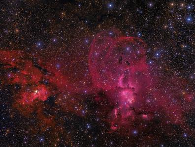 NGC 3576/3603 - The Statue of Liberty Nebula