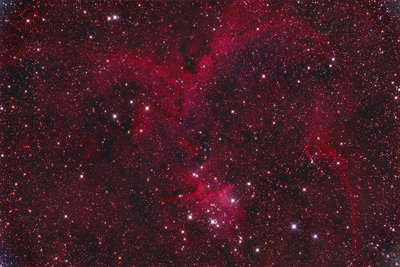 IC1805 Heart Nebula processed with a little more contrast