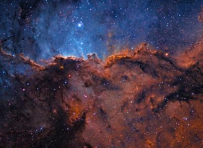 The Great Wall of Ara - NGC 6188 (Narrowband Colour)