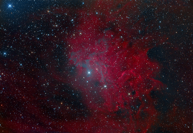 IC405: Flaming Star Nebula
