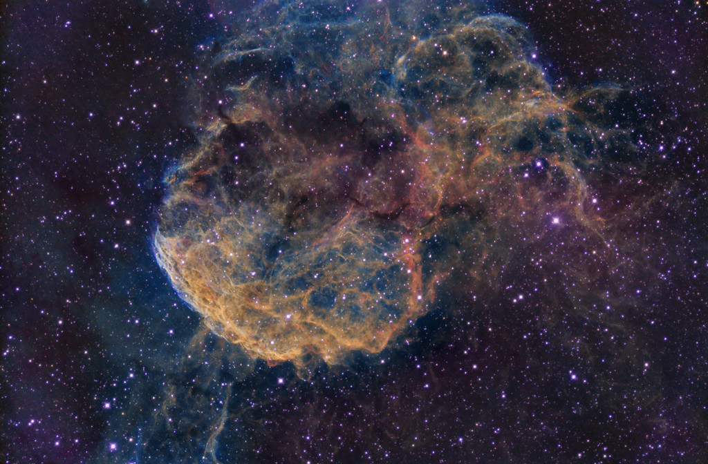 Jellyfish Nebula IC443 in Narrowband
