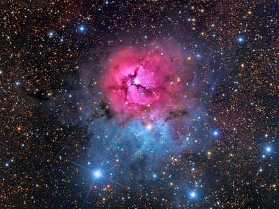 Into the Depths of the Trifid Nebula