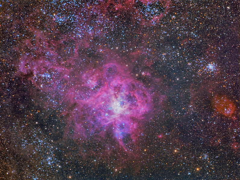 The Tarantula Nebula and Super Star Cluster R136