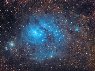 The Lagoon Nebula in Infrared light
