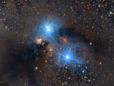 NGC6726 and HH 100 in Corona Australis