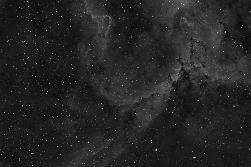 IC1805: Heart Nebula through a narrowband hydrogen alpha filter