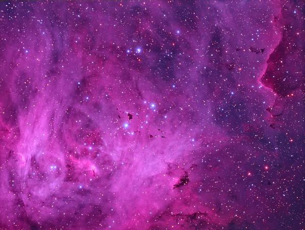 Thackeray's Globules in the Lambda Centauri Nebula (Synthetic RGB)