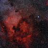 North America and Pelican Nebula; Takahashi FSQ-106N; 80 minutes; Kodak E200; Pentax 67