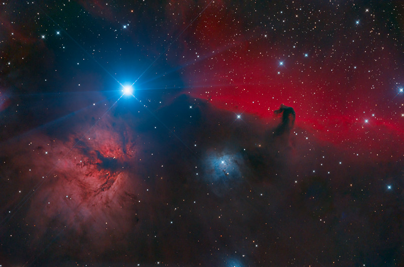 Horsehead and Flame Nebulae: Orion