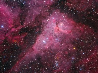The Carina Nebula (NGC 3372) in Optical Light