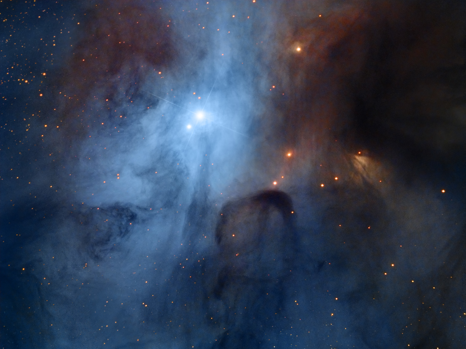 IC 4603, The Turbulent Heart of the Rho Ophiuchi Complex