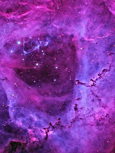 Close-up with the Rosette Nebula (RGB Colour)