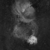 Cone Nebula region in h-alpha; Pentax 67 200mm f/4.0; 120 minutes; FLI PL16803
