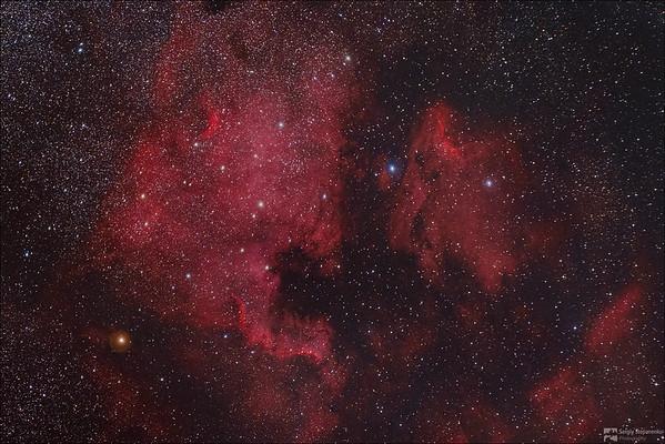 The North America and Pelican Nebulae | Туманности Северная Америка и Пеликан