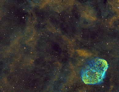 Soap Bubble and Crescent Nebula (NGC 6888) in Cygnus