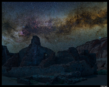 Pueblo Bonito and Milky Way
