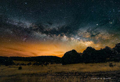 Galaxy rising, Gila National Forest, New Mexico