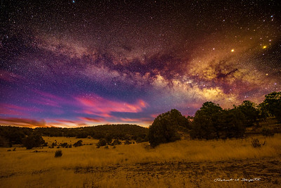 Milky Way rising at dawn, Gila National Forest, New Mexico