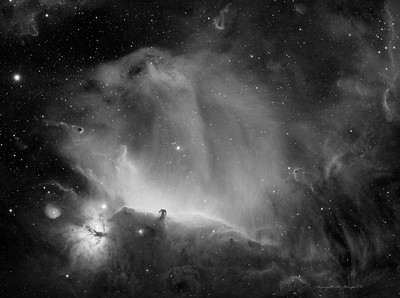 Horsehead Nebula in H-alpha light