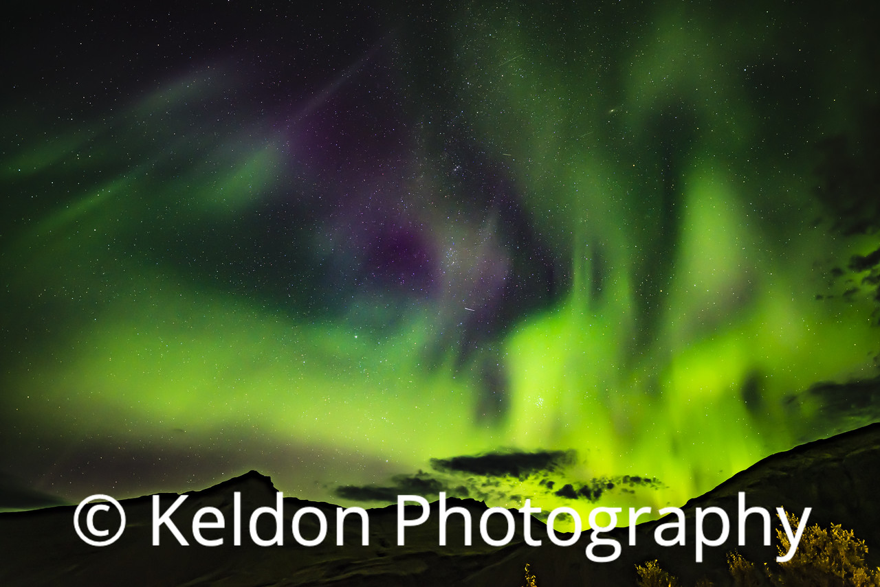 Iceland Northern Lights Vatnajokull