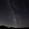 Perseid Meteor streaks the Milky Way., Frazier Park, CA. 08-11-12-2020