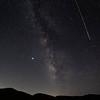 Perseid Meteor streaks the Milky Way., Frazier Park, CA. 08-11-12-2020