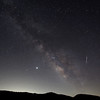 Perseid Meteor streaks by Saturn, Jupiter and the Milky Way., Frazier Park, CA. 08-11-12-2020