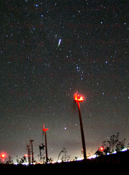 The Perseid meteor shower Aug. 13, 2015 Mojave, CA.