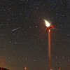 Perseid Meteor shower from Tehachapi Pass Wind Farm, Ca. 08-12-2016