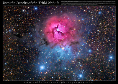 Large Format Poster: Into the Depths of the Trifid Nebula