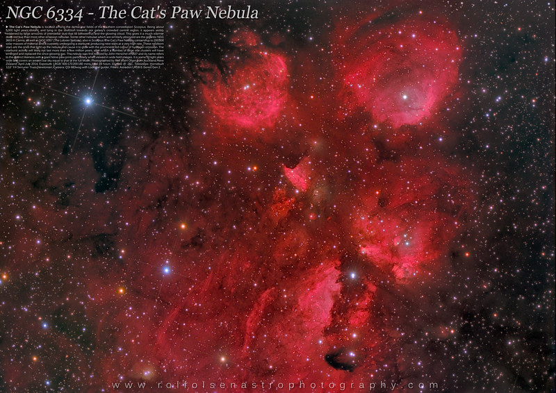 Large Format Poster: NGC 6334 - The Cat's Paw Nebula
