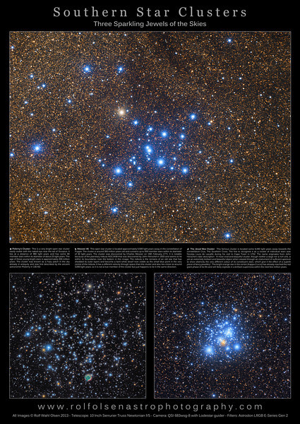 Large Format Poster: Southern Star Clusters
