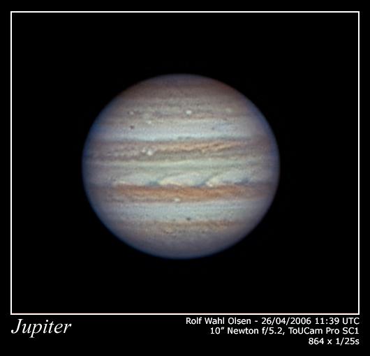 Jupiter in Very Good Seeing