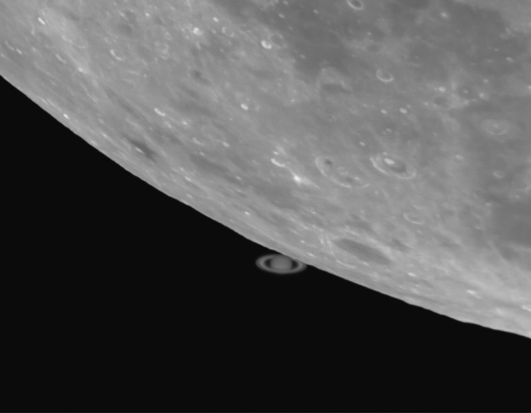 Lunar Occultation of Saturn - 14th May 2014