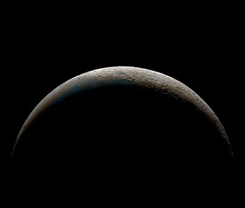 Colour Saturated Crescent Moon