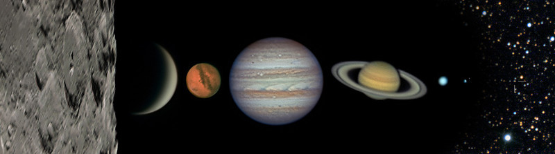 Solar System Collage of My Best Images