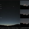 Conjunction Viewed from Lower Nihotupo Dam Conjunction of Mars, Venus, Saturn and Mercury on 11th August 2010