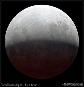 Partial lunar eclipse June 2010