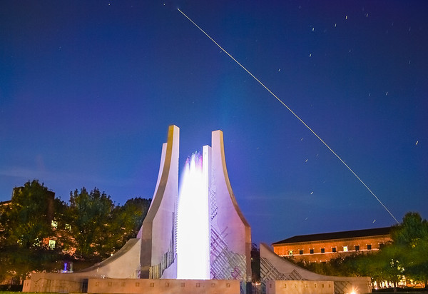 ISS Over The Engineering Fountain
