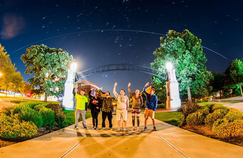 Group #SpotTheStation 13!🚀📡🛰 This morning at Purdue University, the @ISS passed over the Gateway to the Future Archbeautifully at Purdue for the first timeduringthe 2016-17 school year! I wrote a whole behind-the-scenes post over on my website, with GIFs and explanations if you're interested in reading about how this photo was made! You can find a link to that story in my bio, just tap on my profile & look for the blue link at the bottom!📲 @CanonUSA #EOS #7DMkII
