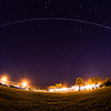 ISS over SpaceX Launch and Landing Control Center