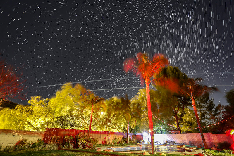 60 Starlink Satellites pass over Santa Clarita, CA. 02-18-2021