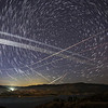 Starlink 24L pass over Castaic Lake, CA. 118 Stacked Images. 05-06-2021