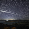 Starlink 24L pass over Castaic Lake, CA. 168 Stacked Images. 05-06-2021