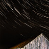 Barn and star trails.