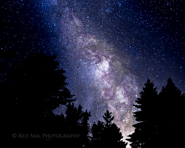 The Milky Way from Parks Pond, Maine.