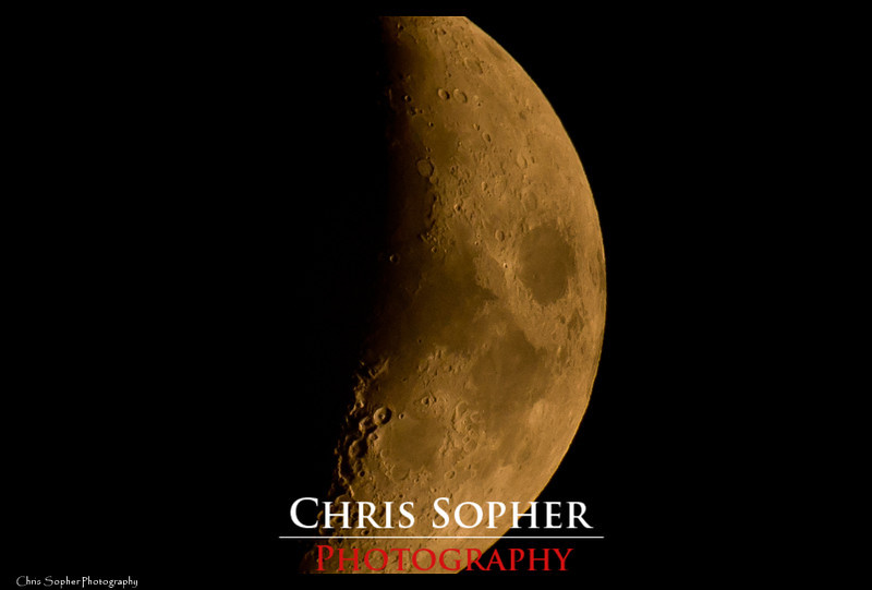 Close Up of Moon - Chris Sopher Photography Peoria, IL<br /> Nikon D90 Sigma Bigma 50-500mm