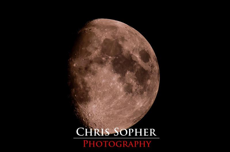 Tonight's Moon - 9/7/2011<br /> Nikon D300 Sigma 50-500mm Lens