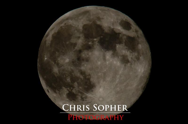 The Moon - Chris Sopher Photography Peoria, IL<br /> Nikon D90 sigma bigma 50-500mm